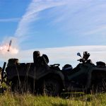Royal Marines tested their ability to outfox radar using new all-terrain vehicles to move mortars around Salisbury Plain.