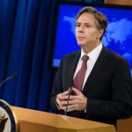 US Deputy Secretary of State Anthony Blinken attends a press conference about the 2016 annual report on international religious freedom at the US Department of State August 10, 2016 in Washington, DC.  Photographer: Brendan Smialowski/AFP via Getty Images