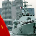 TOKYO - NOVEMBER 28:  The Chinese naval missile destroyer Shenzhen arrives at Harumi pier November 28, 2007 in Tokyo, Japan. The Japanese Maritime Self-Defense Force (JMSDF) invited the Chinese Navy for their first visit as they celebrate the 35th Anniversary of Normalization of Japan-China Diplomatic Relations.  (Photo by Koichi Kamoshida/Getty Images)